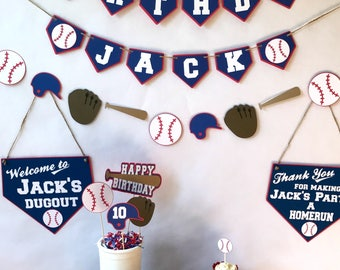 Baseball Birthday Party Package - baseball party - sports theme - party supplies