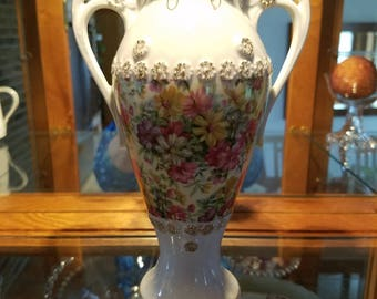Hand-Painted Tilso Chintz Vase