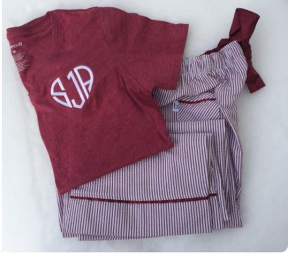 valentine pajamas monogram pajamas love pajamas youth