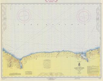 Lake Ontario - Port Bay to Long Pond Map 1966
