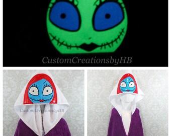 Sally Nightmare Before Christmas Inspired Hooded Towel on High Quality Belk Department Store Towel