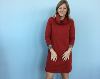 Red Wool Sweater Dress