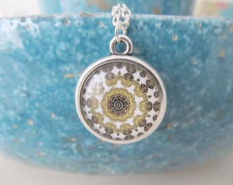 Mandala necklace, yoga necklace, mandala jewelry