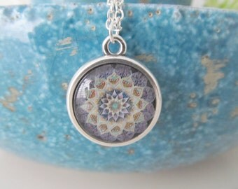 Mandala necklace, yoga necklace