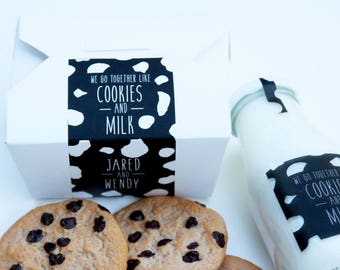Cookie Favor Box, Cookies and Milk, Wedding Cookie, Cake Favor Box, Favor Box, To Go Box, Dessert Favor, Dessert Sign, Custom Favor Label