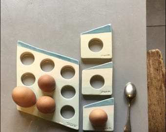 the DOMINO egg & its three egg cups
