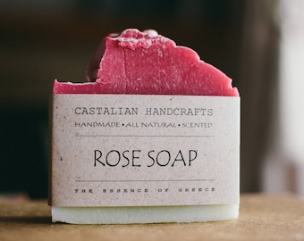 ROSE SOAP- Perfect Rose Soap - Vegan Soap - Handmade Soap- Soap Gift - Wedding Favors - Soap Favors - Wholesale soap - Mother's Day Gift