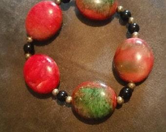 Watermelon Colored Stone Bracelet