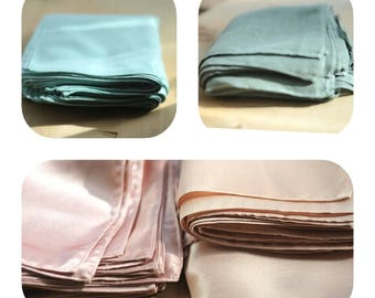 30-50% Bulk deal pocket squares,solid plain color,dusty shale green#23, mint#87, rose gold#151, eden blush#180, only USA,USPS first class