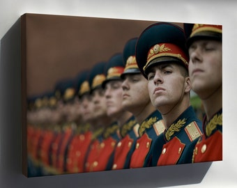 Canvas 24x36; Russian Military Honor Guard