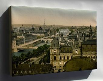 Canvas 24x36; Panorama Of The Seven Bridges, Paris, France 1890