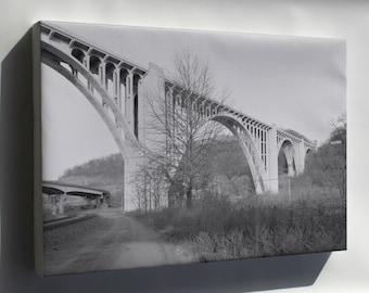 Canvas 24x36; George Westinghouse Bridge Haer Pa 446 361026Pu