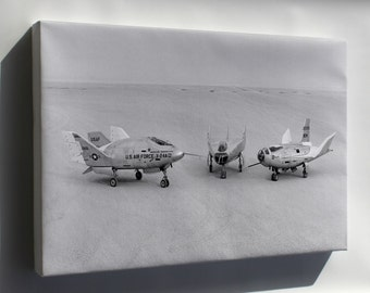 Canvas 24x36; Three Lifting Bodies On Lakebed (X-24A, M2-F3, Hl-10) 1969