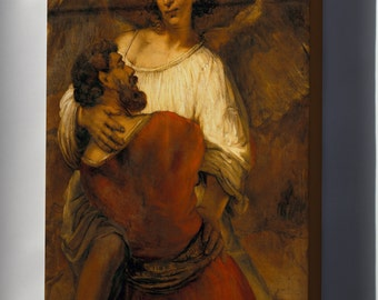 Canvas 24x36; Jacob Wrestling With The Angel By Rembrandt
