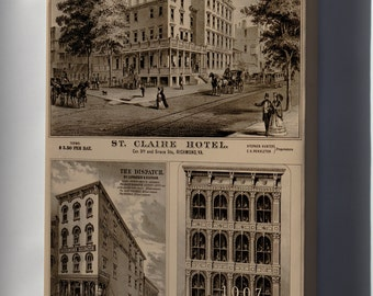 Canvas 16x24; St. Claire Hotel Richmond Virginia 1877