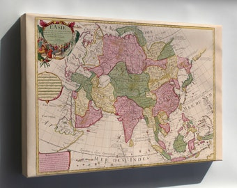 Canvas 16x24; Map Of Asia 1700 In French P1