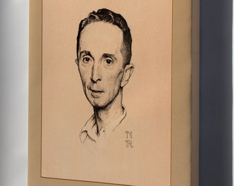 Canvas 16x24; Norman Rockwell, Self Portrait, 1920