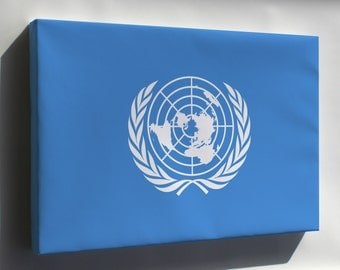 Canvas 16x24; Flag Of The United Nations