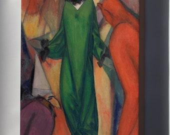 Canvas 16x24; Albert Bloch The Green Domino