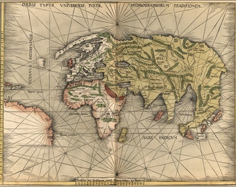 16x24 Poster; Map Of The World 1513 P3