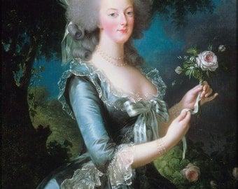 16x24 Poster; Marie-Antoinette With The Rose By Elisabeth Vigee-Lebrun