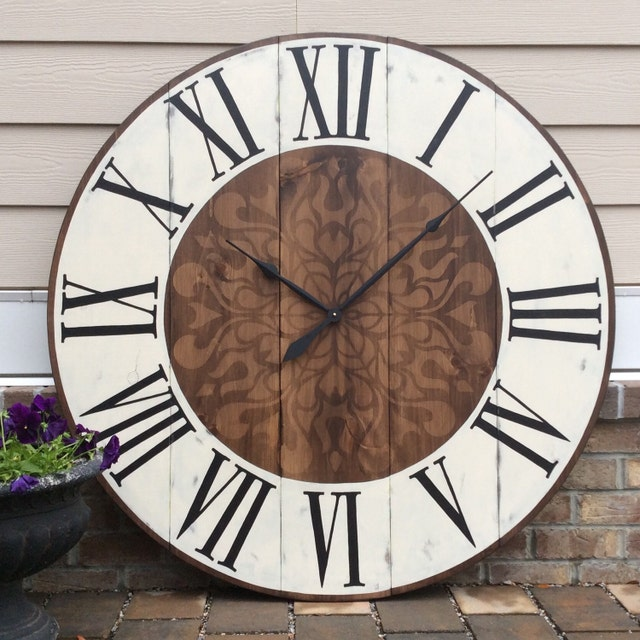 large wall clocks custom clocks big clocks by funcoolwallclocks. Black Bedroom Furniture Sets. Home Design Ideas
