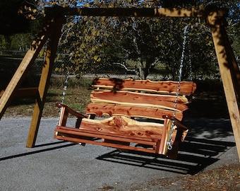 Rustic Cedar Swing