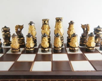 Wooden chess, big chess board, chess pieces, hand carved chess, wooden chess pieces, wooden chess board, wooden chess game, Wooden chess set