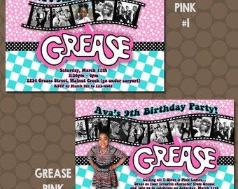 Grease Invitations Etsy