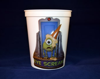 """Disney Cruise Line Inspired """"Eye Scream"""" Ice Cream Cup Fish Extender Gift DCL Monsters Inc"""