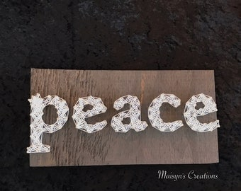 Peace String Art Sign | MADE TO ORDER