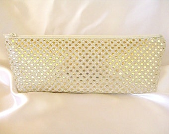 Gold Sequin Clutch - Gold Sequin Bag - Bridesmaid Sequin Clutch - Holiday Clutch - Special Occasion - Winter Formal Clutch