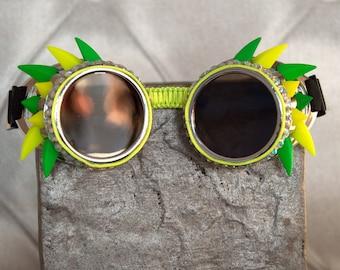 """Steampunk """"Neon Dragon""""Goggles"""