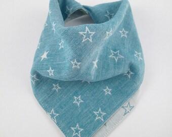 Drool bib, bandana, star bib, bandana bib, baby bib, reversible cotton bib, scarf bib, dribble bib, toddler bib, baby boy gift