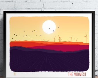 The Midwest Screen Printed Poster