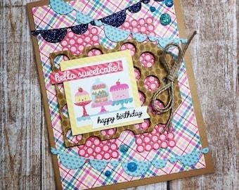 Sweet Shop Birthday Card, Kawaii cakes and donuts