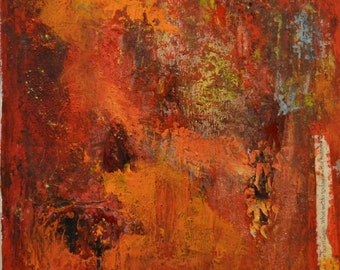 New Beginning: Beeswax, dry pigments oil painting on a gallery style wooden panel ready for display
