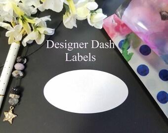 Designer Dashboard - Oval Label Stickers - Travelers Notebook, TN, Dashboards 2185