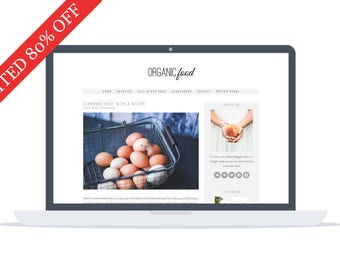 80% OFF - Organic Theme - Minimal responsive Wordpress Theme - Self Hosted - Perfect for Lifestyle bloggers, writers and foodies.