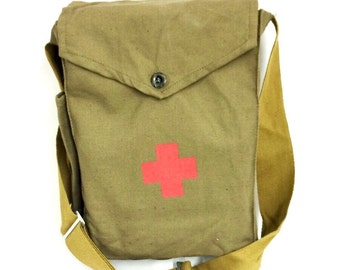 Green canvas bag | Etsy
