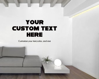 Custom Office Wall Decal Study Wall Decal Personalized Text Wall Decal  Custom Made Customize Size Color