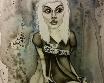 Scream Queen-Digital Print