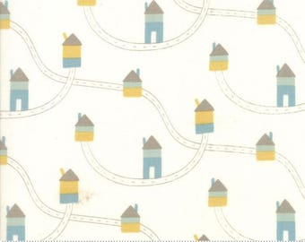 5th & Fun Ivory Houses Brushed Cotton