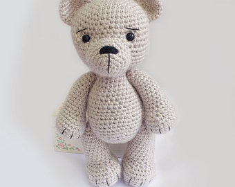 PATTERN : Bear-teddy -Amigurumi bear pattern-Bear -Classic Bear-Crochet -Knitted Stuffed animals- doll-toy-baby shower