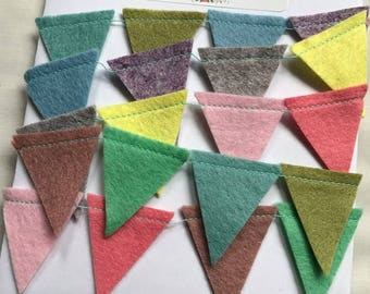 Bunting, Felt Bunting, Mini Bunting, Home Decor, Bedroom Decoration, Birthday Decoration