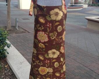 Handmade Apron in 2 Different Fabrics