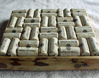 Live Edge Wine Cork Trivet - Birch