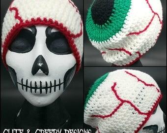 Green Eye Ball Beanie