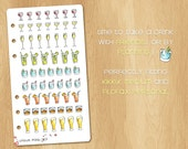 61 Mini Watercolor Stickers to Take a Drink (Champagne, Whisky, Cocktails, etc) - Perfect for Filofax Personal and Kikki.k Medium