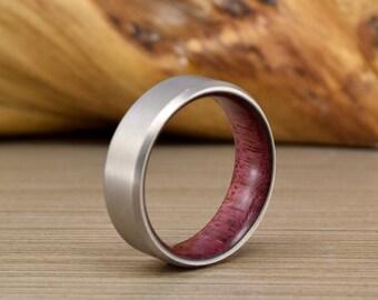 Men's Wedding Ring - Purple Heart - Titanium Wedding Band - Men's Wedding Band - Women's Ring - Unique Wedding Ring